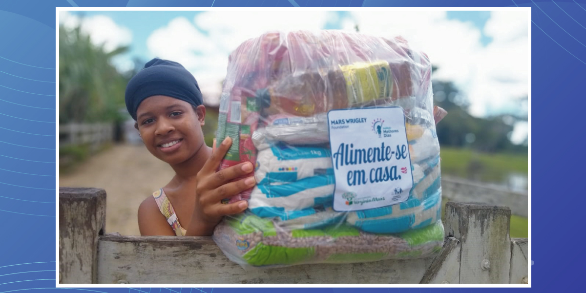 Entrega cestas na Bahia