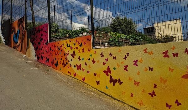 Muro horta comunitária - SBC