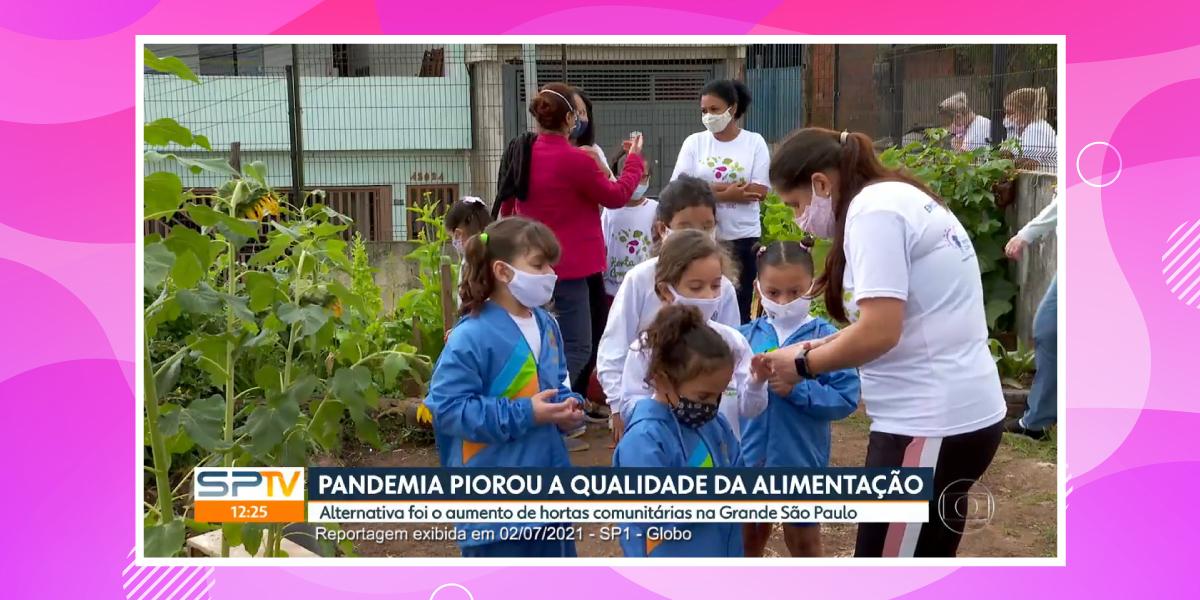 Reportagem Globo Horta Comunitária 02-07-21